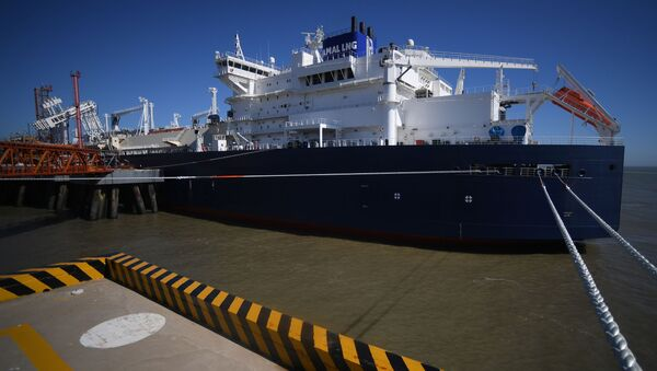 Tanker na zkapalněný plyn Vladimir Rusanov - Sputnik Česká republika