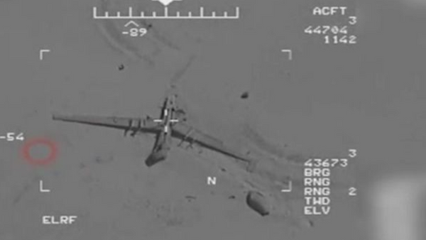 Snímek z amerického bezpilotního letounu, nad kterým údajně získal kontrolu Írán. - Sputnik Česká republika