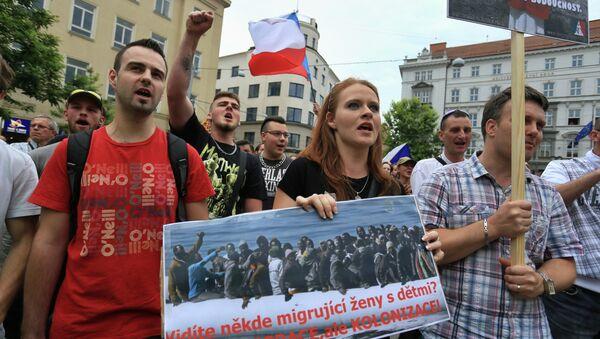 Protesty proti migrantům v Brně - Sputnik Česká republika