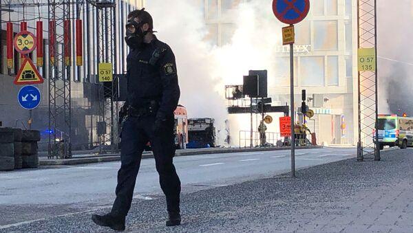 Autobus vybuchl v centru Stockholmu - Sputnik Česká republika