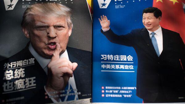 Časopisy s fotografiemi Donalda Trumpa a Si Ťin-pchinga - Sputnik Česká republika