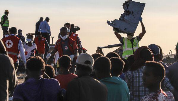 Místo havárie letadla Boeing 737 MAX v Etiopii - Sputnik Česká republika