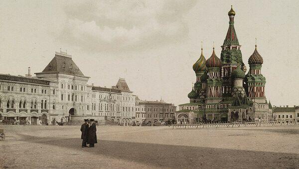 Rudé náměstí v Moskvě. Jedna z prvních barevných fotografií Ruska - Sputnik Česká republika