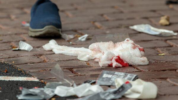 Fotografie z místa střelby v mešitě Al Noor v Christchurch na Novém Zélandu - Sputnik Česká republika