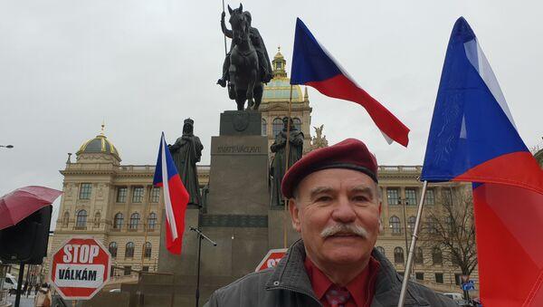 Vzpomínková akce na Václavském náměstí k 80. výročí okupace Československa - Sputnik Česká republika
