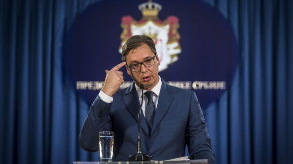 Srbský prezident Alexandar Vučić  - Sputnik Česká republika
