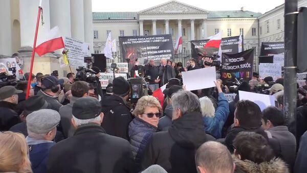 Protest v Polsku - Sputnik Česká republika