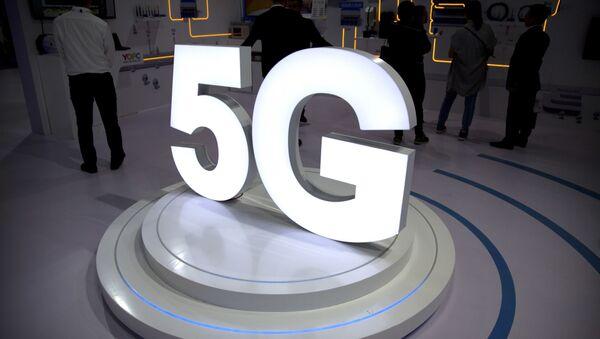Logo 5G na výstavě technologií PT Expo v Pekingu - Sputnik Česká republika