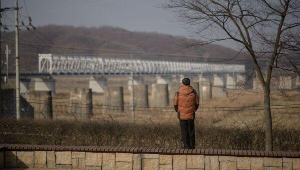 Demarkační linie mezi korejskými státy - Sputnik Česká republika