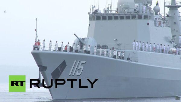 Čínské lodi připluly do Vladivostoku, aby se zúčastnily vojenských cvičení - Sputnik Česká republika