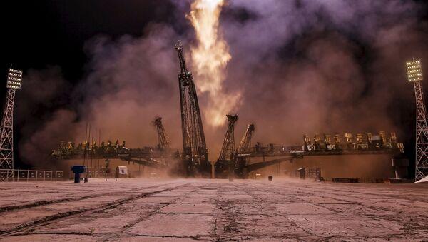 Start kosmické lodě Sojuz - Sputnik Česká republika