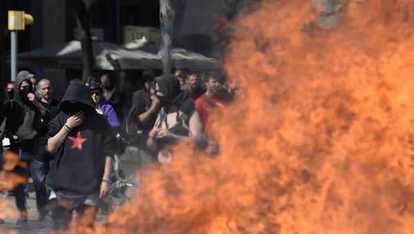 Nepokoje během demonstrací levicových radikálů - Sputnik Česká republika