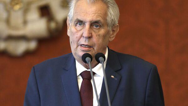 Prezident České republiky Miloš Zeman  - Sputnik Česká republika