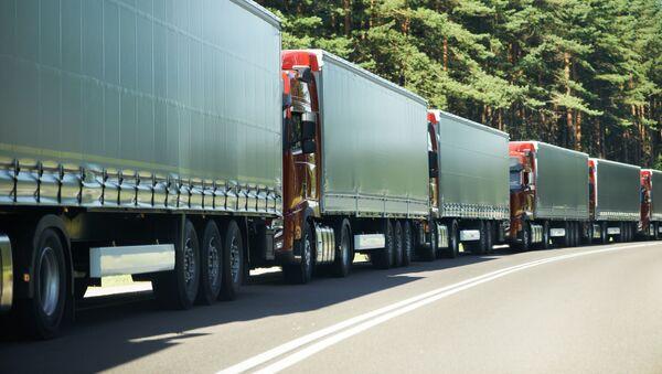 Na hranicích Ukrajiny se Slovenskem jsou kvůli rozbitému skeneru obrovské fronty kamionů - Sputnik Česká republika