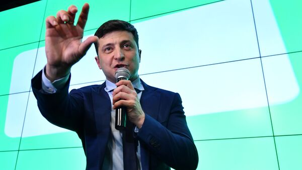 Kandidát na funkci prezidenta Ukrajiny Volodymyr Zelenský - Sputnik Česká republika