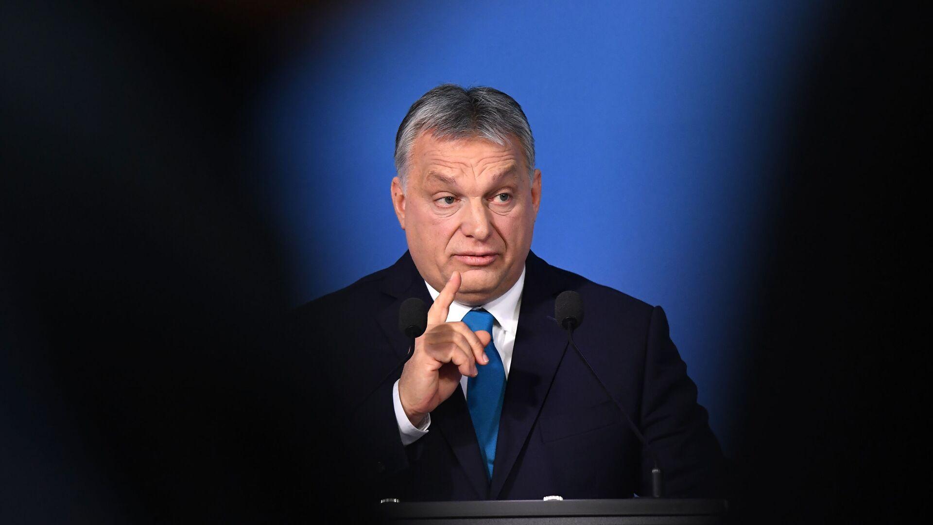 Maďarský premiér Viktor Orbán  - Sputnik Česká republika, 1920, 03.07.2021