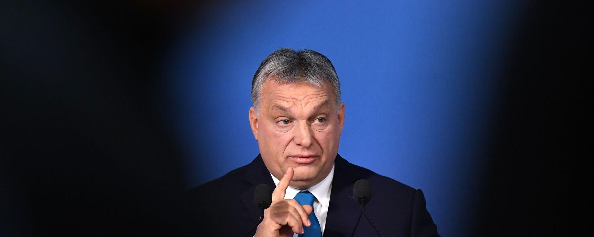 Maďarský premiér Viktor Orbán  - Sputnik Česká republika, 1920, 11.10.2021