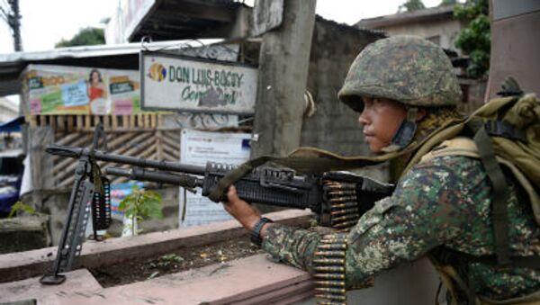 Filipínský voják - Sputnik Česká republika