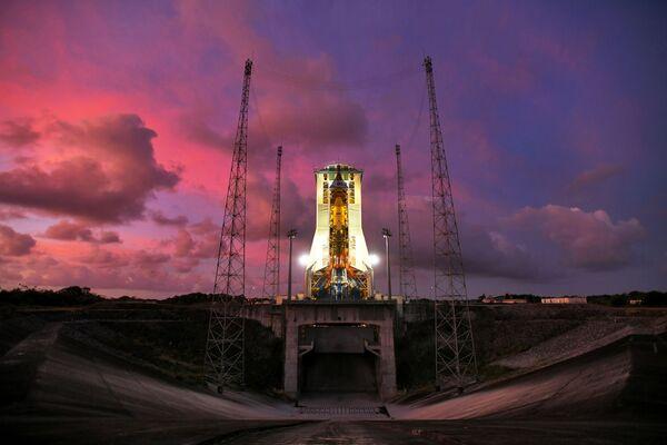 Startovní plocha na kosmodromu v Guyanském kosmickém centru poblíž města Kourou ve Francouzské Guyaně - Sputnik Česká republika