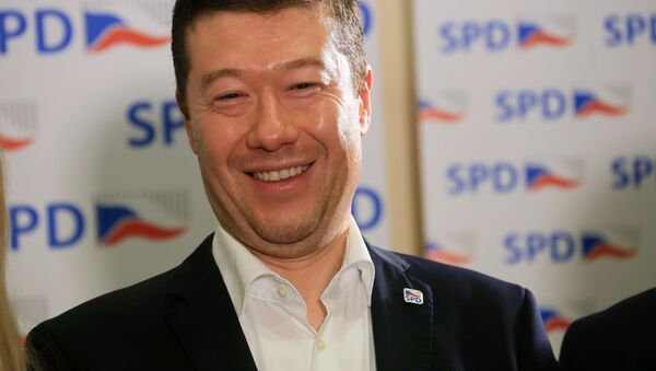 Šéf politického hnutí Svoboda a přímá demokracie  Tomio Okamura - Sputnik Česká republika
