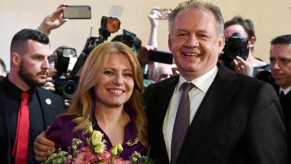 Prezident SR Andrej Kiska a Zuzana Čaputová - Sputnik Česká republika