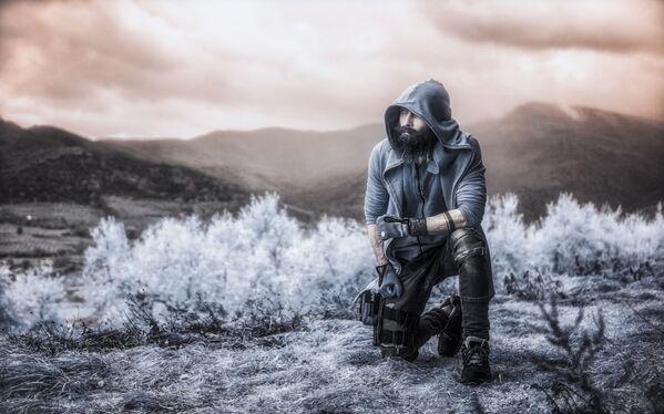 Snímek Eddie od fotografa Vladimira Migutina, druhé místo v kategorii Infrared Portrait v soutěži infračervených fotografií Život v jiném světle - Sputnik Česká republika
