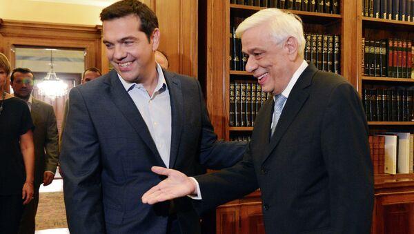 Alexis Tsipras a Prokopis Pavlopulos - Sputnik Česká republika