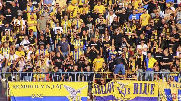 Fanoušci slovenského fotbalového klubu FC DAC 1904 Dunajská Streda - Sputnik Česká republika