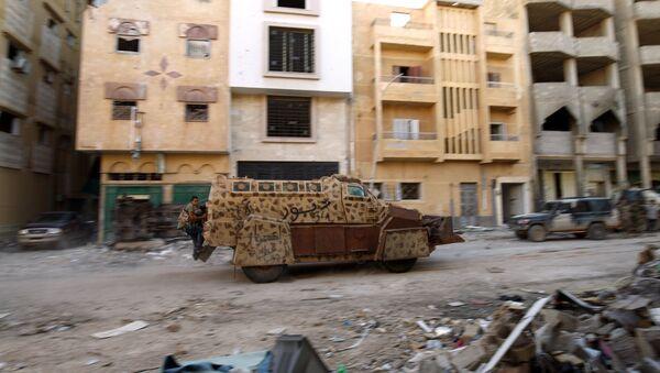 Operace Libyjské národní armády proti skupině DAIŠ. Ilustrační foto - Sputnik Česká republika