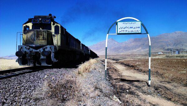 Vlak v Íránu - Sputnik Česká republika
