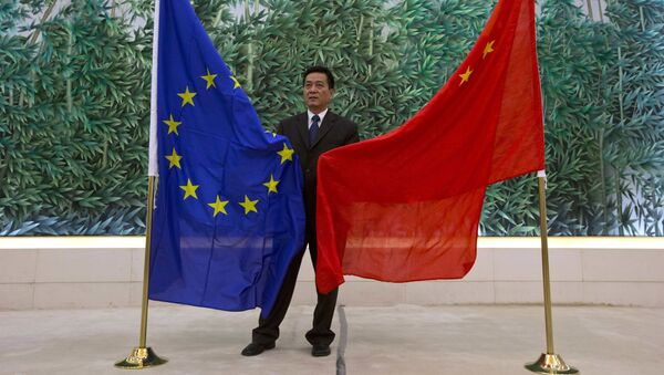 Vlajky EU a Číny - Sputnik Česká republika