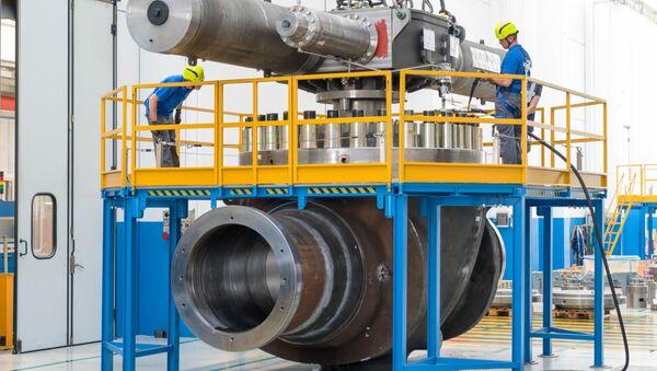 Zařízení pro Nord Stream 2 na závodě PetrolValves v Miláně - Sputnik Česká republika
