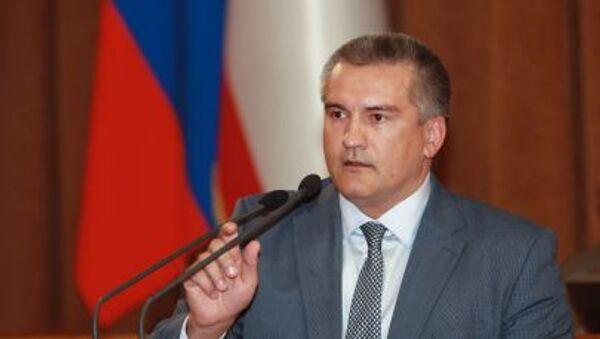 Hlava Krymu Sergej Aksenov - Sputnik Česká republika