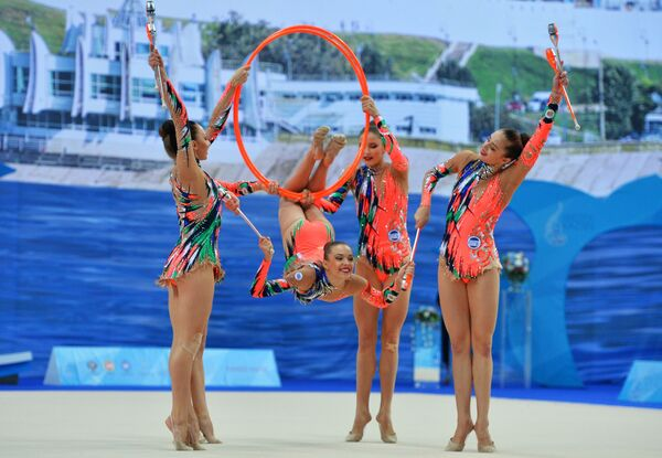 Běloruské moderní gymnastky - Sputnik Česká republika