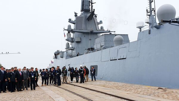 Fregata projektu 22350 Admirál flotily Sovětského svazu Gorškov - Sputnik Česká republika