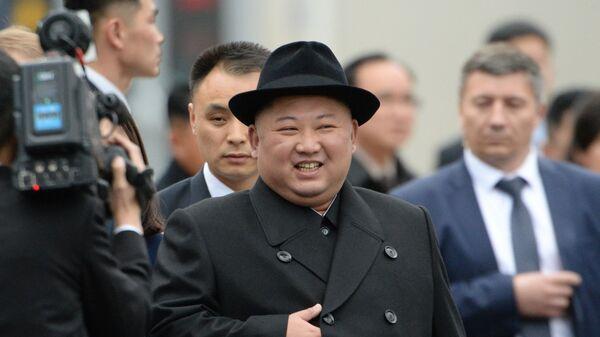 Kim Čong-un Vladivostok - Sputnik Česká republika