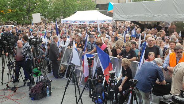 Akce SPD s hlavními nacionalisty Evropy na Václavském náměstí - Sputnik Česká republika