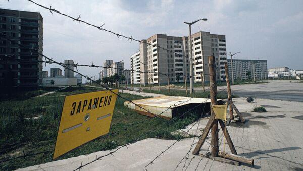 Oplocení na ulicích města Pripjať po havárii na Černobylské jaderné elektrárně - Sputnik Česká republika