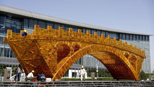Instalace Zlatý most nad Hedvábnou stezkou - Sputnik Česká republika