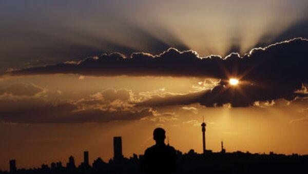 Západ slunce v Johannesburgu, JAR - Sputnik Česká republika