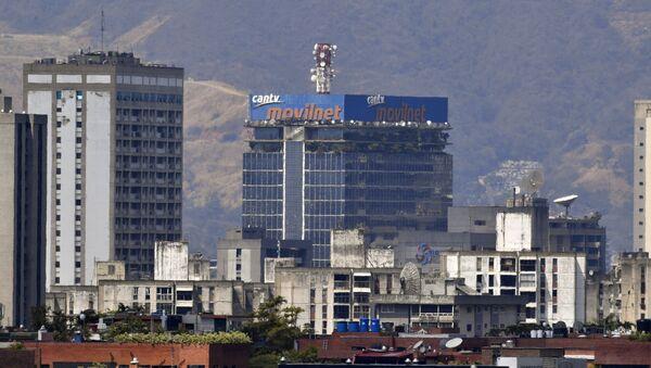 Pohled na státní telefonní a internetovou společnost CANTV v Caracasu - Sputnik Česká republika