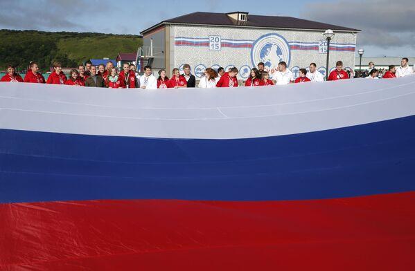 Dmitrij Medveděv se zúčastnil oslav Dne státní vlajky - Sputnik Česká republika