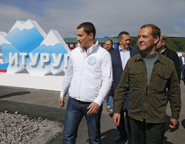Medveděv navštívil mládežnické fórum Iturup - Sputnik Česká republika