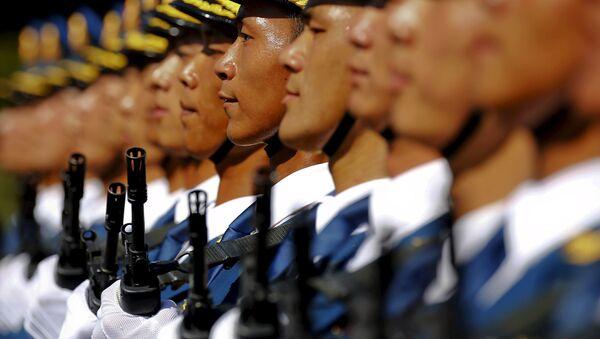 Čínská lidová osvobozenecká armáda během zkoušky vojenské přehlídky - Sputnik Česká republika