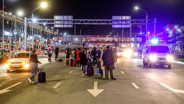 Cestující na letišti Šeremetěvo, Rusko, 5. května 2019 - Sputnik Česká republika