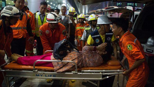 Letadlo společnosti Biman havarovalo na letišti v Myanmaru - Sputnik Česká republika
