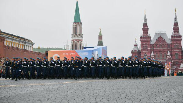 Přehlídka vítězství na Rudém náměstí v Moskvě - Sputnik Česká republika