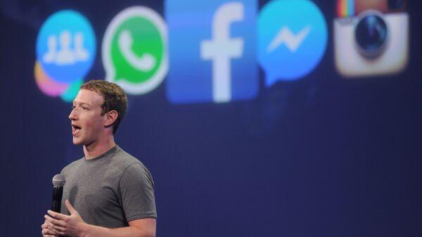Šéf Facebooku Mark Zuckerberg - Sputnik Česká republika