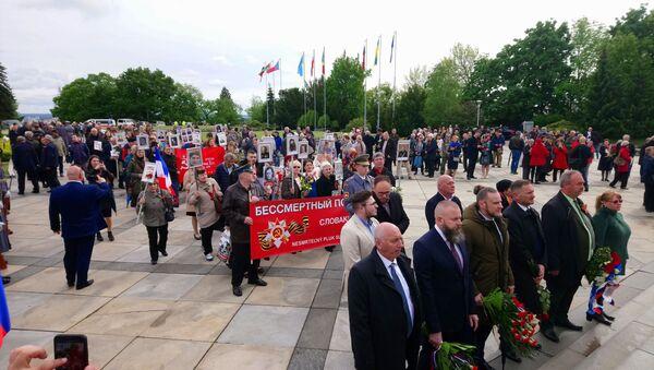 Na Slavíne sa spomínalo na obete vojny - Sputnik Česká republika