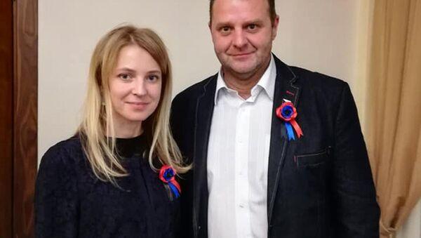 Český poslanec Zdeněk Ondráček a ruská politička Natalja Poklonská - Sputnik Česká republika